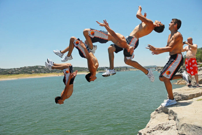 8) How about cliff jumping at Lake Travis like this guy?!