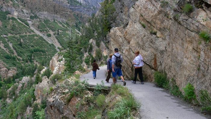 3) Hiked to Timpanogos Cave