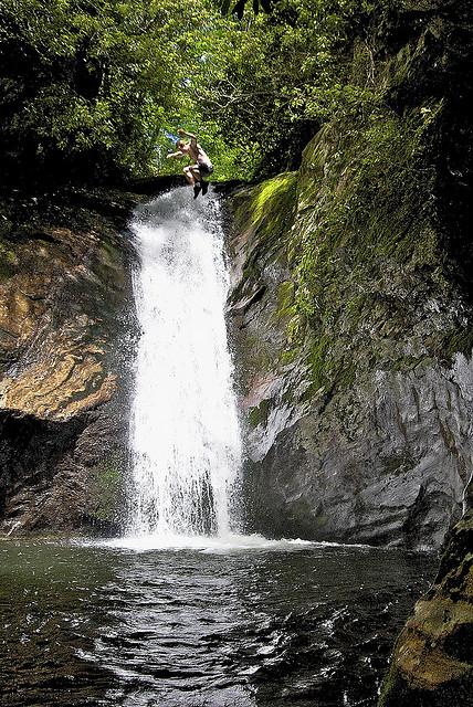 9. Waterfall jump