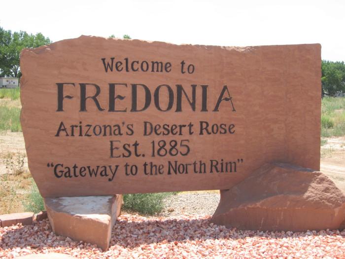 3. Fredonia (pop. 1,318)