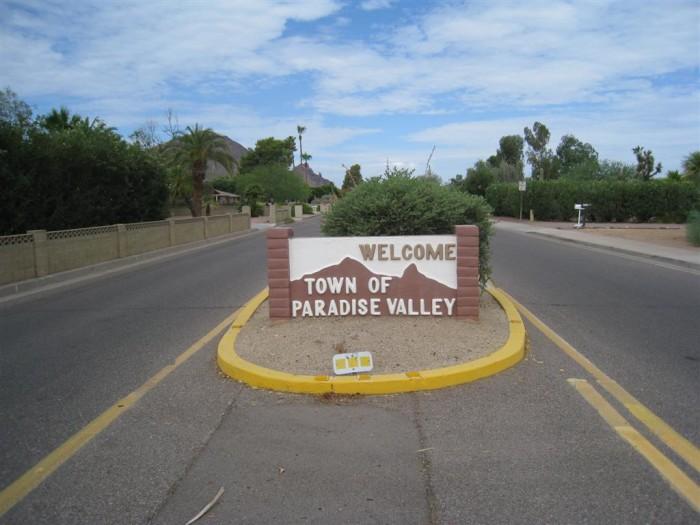 10. Paradise Valley (pop. 13,286)