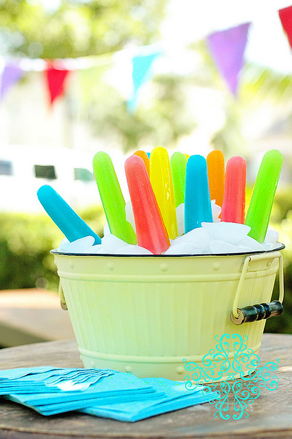 8. Have a popsicle party!