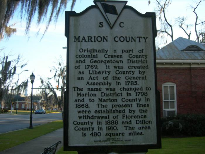 3. Marion, SC