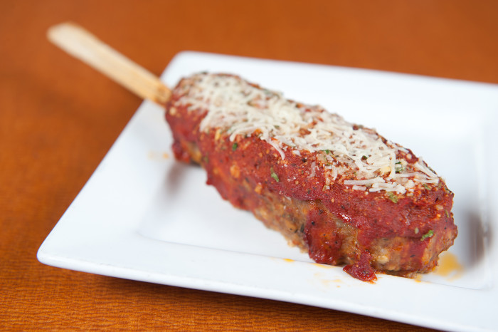12. Stuffed Italian Meatloaf On A Stick - It's the Italian Juicy Lucy so we know it'll be amazing!