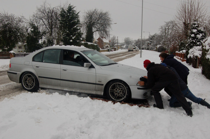 3. And when those icy roads get the best of us, we tough it up, and help eachother out, because we know we would want someone to do the same for us.