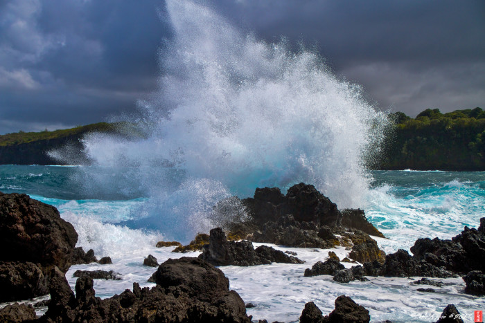 4) Surround yourself with the music of the waves crashing against the rocky coast.