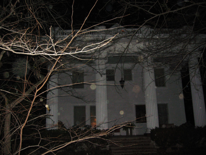 7. You can find this particular house in Irvington. Do you think those little orbs might be souls of the undead? Creepy!