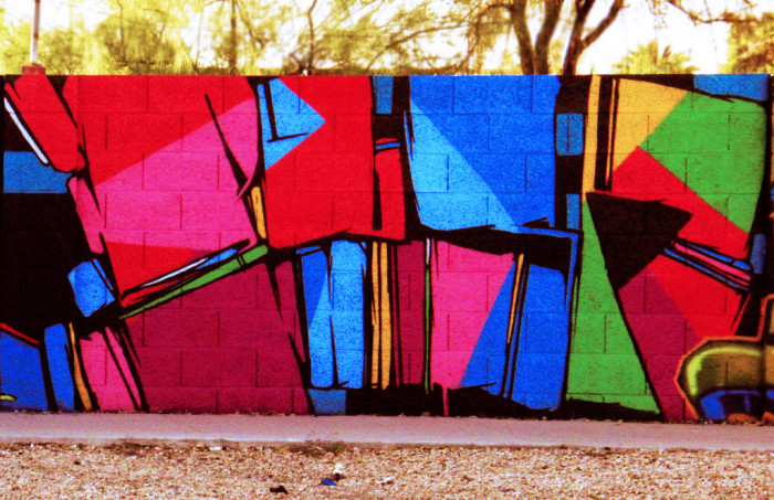 14. This one found near Central in Phoenix is certainly a different take on the usual work seen on walls.