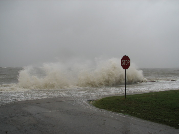 4. Normally waves wouldn't be a scary sight, but when they're in the street, it's a different story.