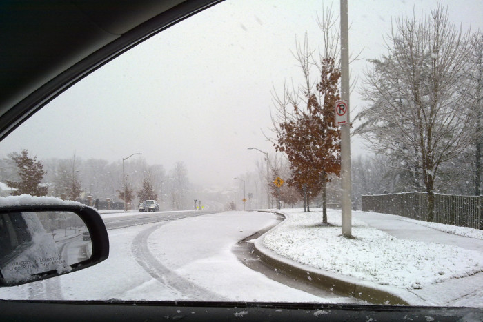 2) We drive in winter weather, unlike most.