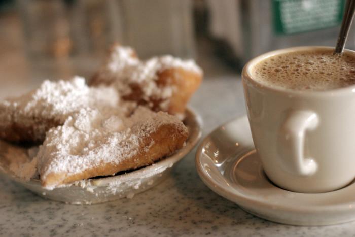 4) Coffee & Beignets