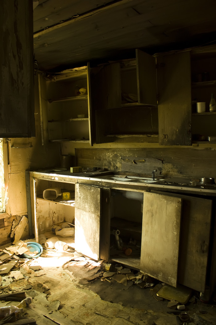 4. Kitchen of an abandoned Delta home or set for some horror movie? You decide.