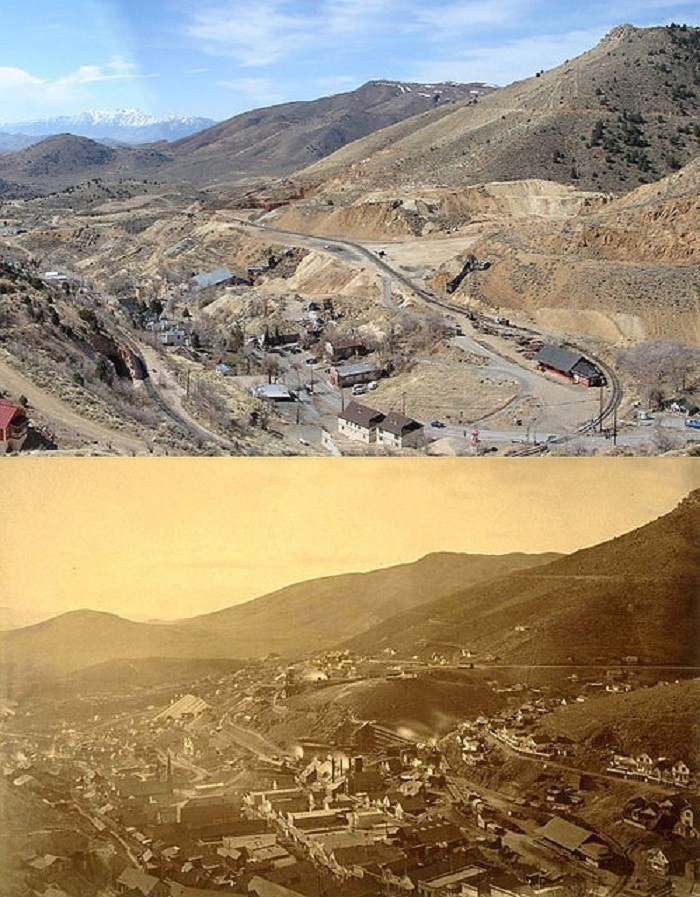 6. Gold Hill - Circa 1870 and Today