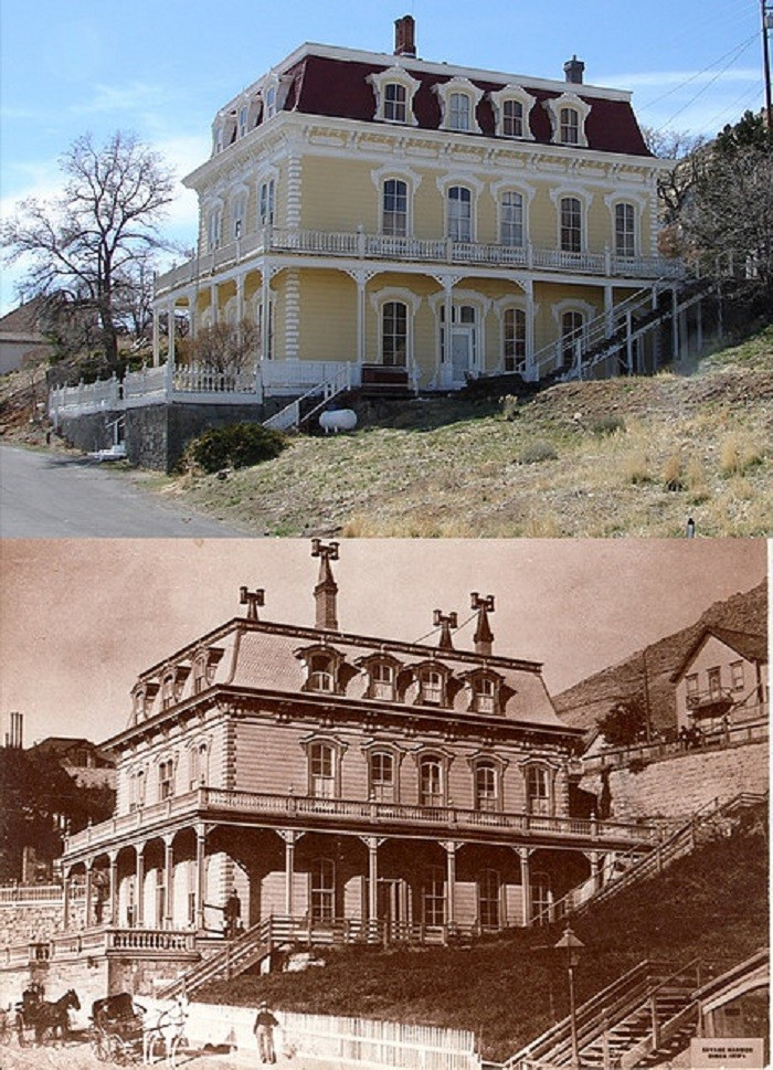 10. Savage Mansion - Circa 1870 and Today