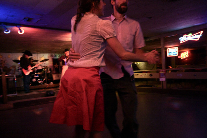 4) ..or Texas two-steppin' the night away in a dance hall.