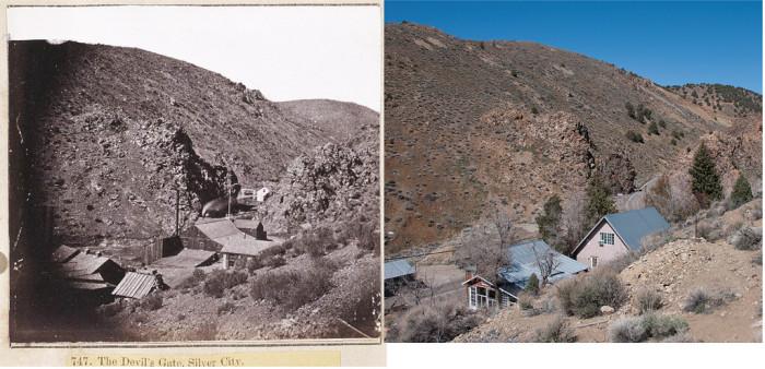 8. Devil's Gate in Silver City - Circa 1880 and Today