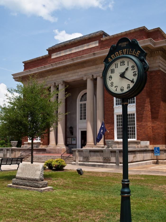 Abbeville County Courthouse - Abbeville, South Carolina, USA
