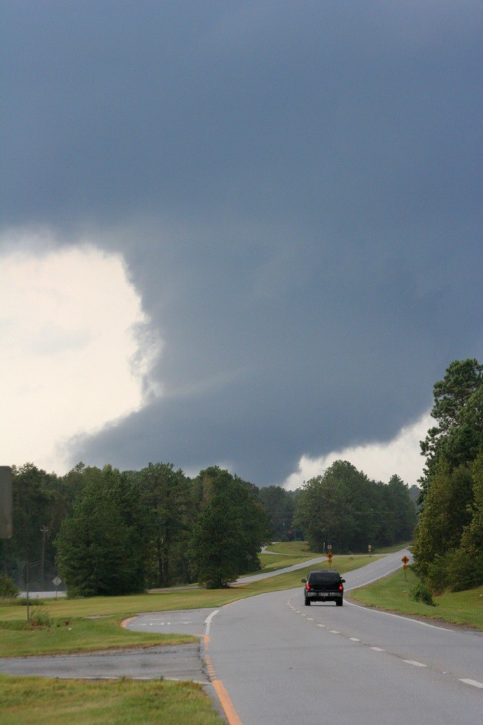 6. Tornadoes absolutely TERRIFY me!!! This photo was taken west of Tuscaloosa.