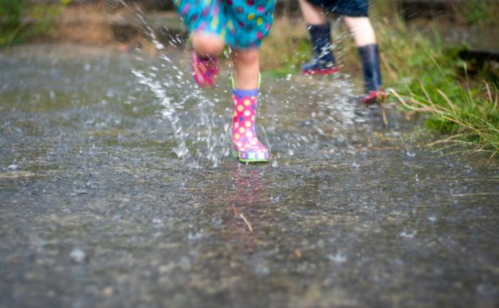 9. Enjoy the rain outside.