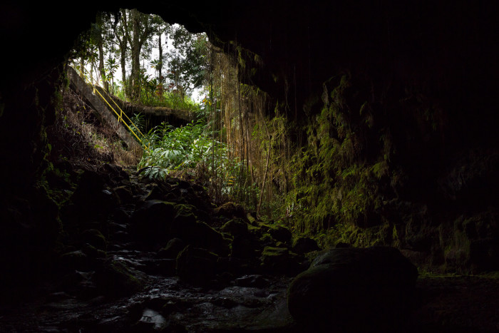 5) Kaumana Cave is actually a skylight in a 25-mile long lava tube created by an 1881 flow from Mauna Loa.
