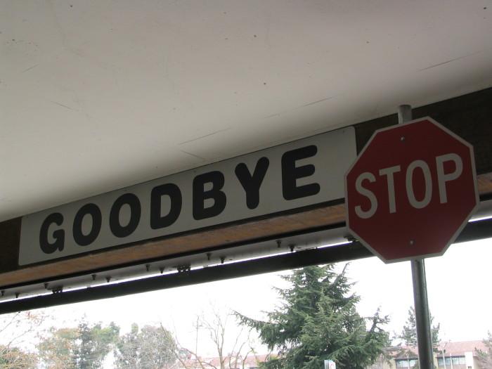 1. Goodbye.