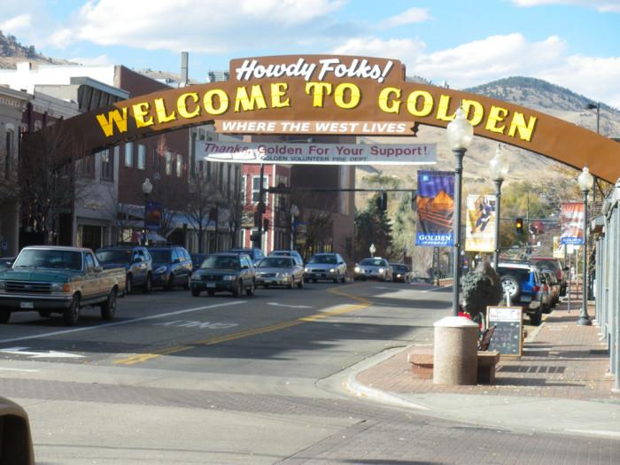 6.) Safest Suburb -- Golden (Population: 19,334)