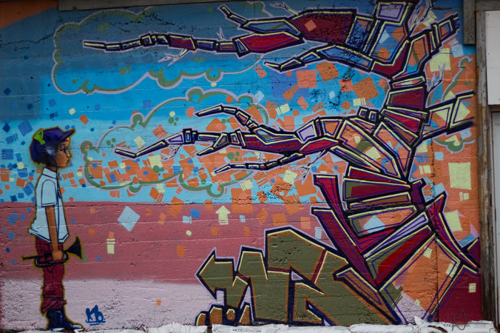 4. This interesting piece can be found in Flagstaff and is by artist Kory Begay.