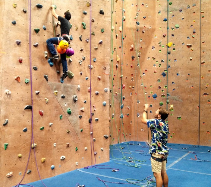 8. Practice your rock climbing skills at the gym.