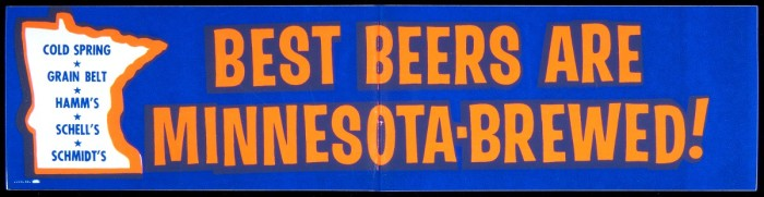 12. And of course, beer. The sign is old but the shoe still fits.