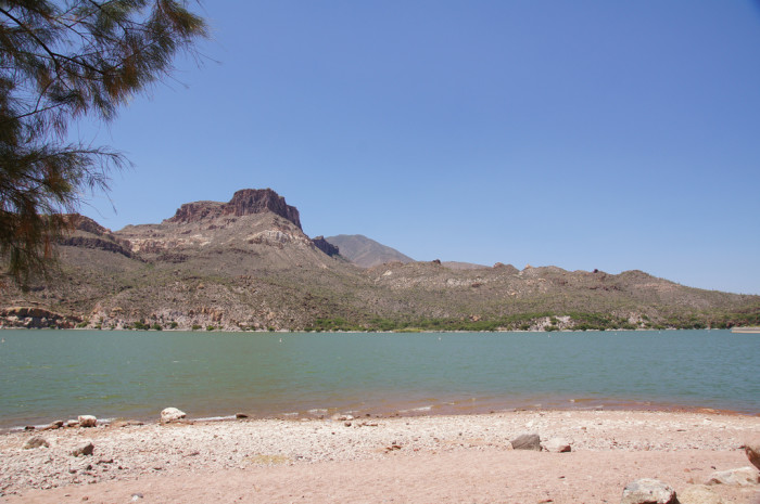 5. A nice thing about our beaches is they are quiet compared to more touristy areas, like this one at Apache Lake.