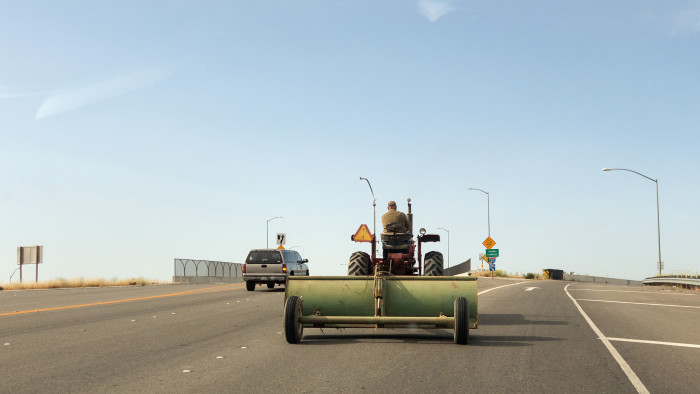 5. For those who live in rural Iowa, there's a whole different kind of traffic jam: A tractor jam.
