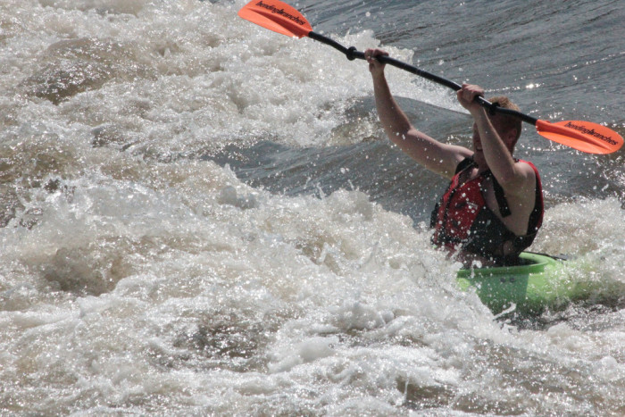 5. Going white water rafting
