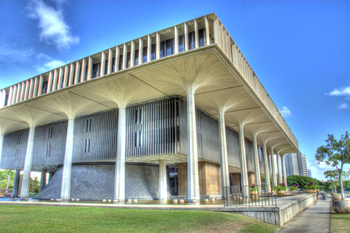 6) The Hawaii State Capitol building is rather remarkable.