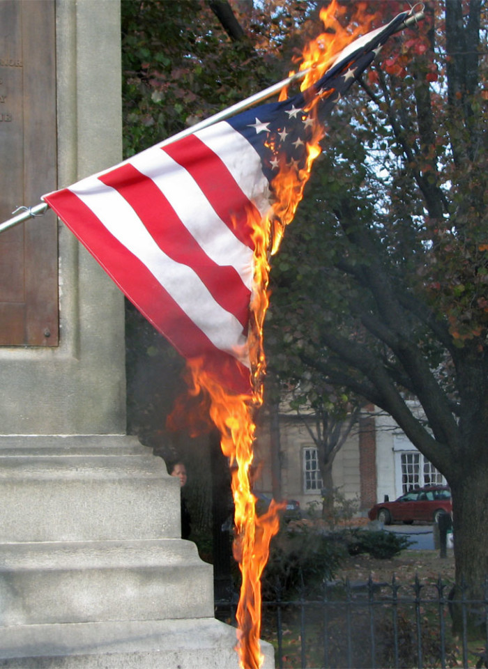 6. Neighbor Steals Bacon and Burns Flag