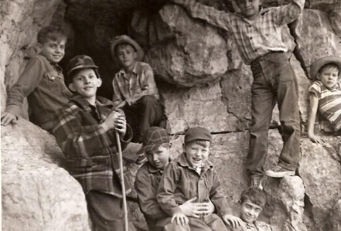 6. Boys of Summer, 1950, Exploring Jesse James Cave near Missouri River