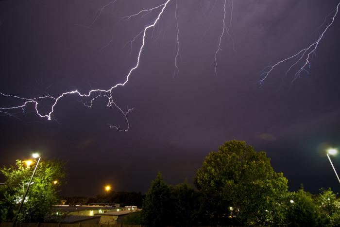 1. This lightning storm over Huntsville is MASSIVE!