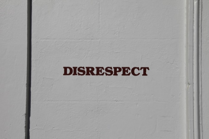 4. Disrespecting our elders...it just doesn't happen.