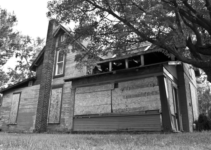 9. This house is sitting in Muncie. I have to ask – are they trying to keep something out or something in?