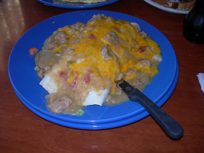 4.) We love us some green chili!