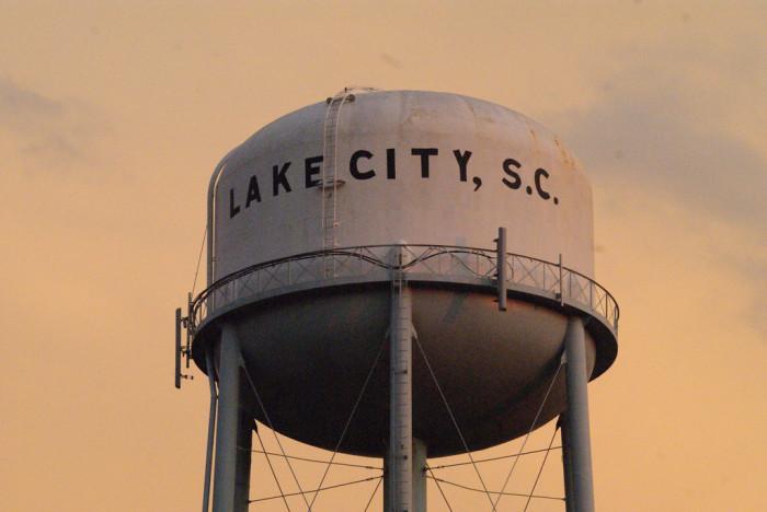 10. Lake City, SC
