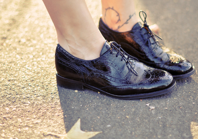 1. Women are prohibited from wearing patent leather shoes in public.