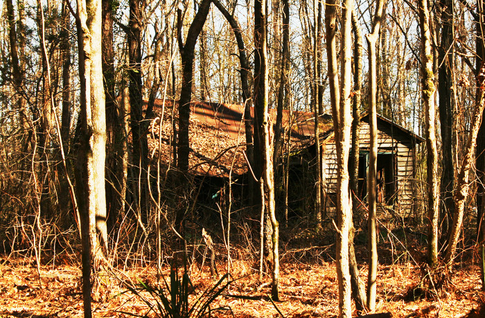6. This secluded home seems like the perfect place for supernatural happenings.