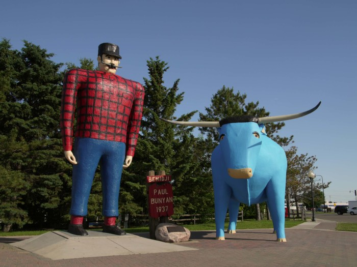 2. See some hilarious and awesome road-side attractions like one of the many Paul and Babe statues or one of our world's largest statues (or twine balls).