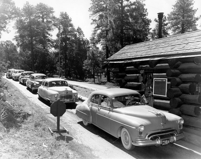 1. Let's start with a look at the Grand Canyon's south entrance. This was taken in 1951.