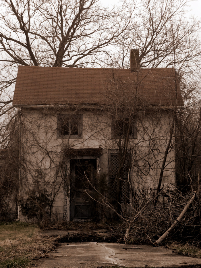 2. This creepy old house is in Jennings County. It looks like something might jump out and get you before you even get close to it!
