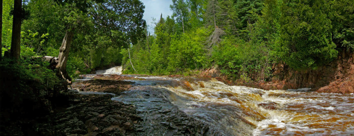 8. While many visit the lighthouse, the Split Rock River Loop is quite possibly one of the most scenic day hikes around.