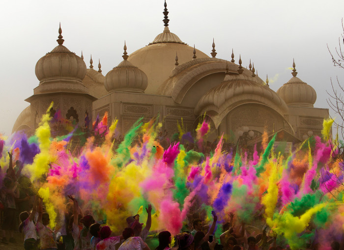 8) Holi Festival of Colors