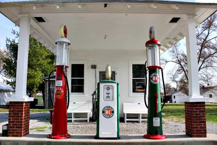 5. This very old gas station is called Hayden Gas Station. Vintage gas pumps are so neat looking!