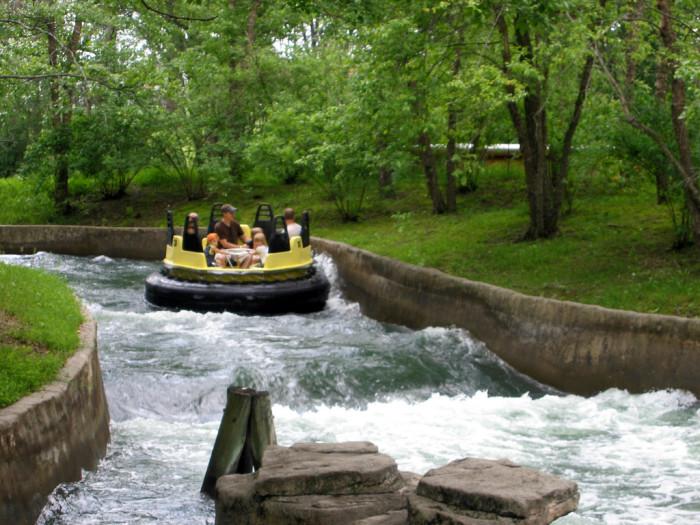 6. Keep cool while having fun on the water rides at Adventureland.