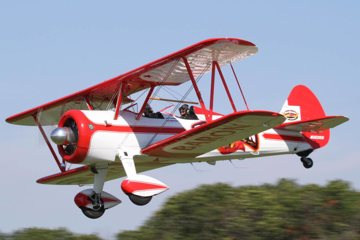 6. Riding in a biplane
